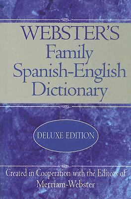 Webster's Family Spanish-English Dictionary (2005, Hardcover, Deluxe)