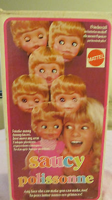1972 Mattel SAUCY Funny Faces Doll w/Box Excellent Working Condition! NR!