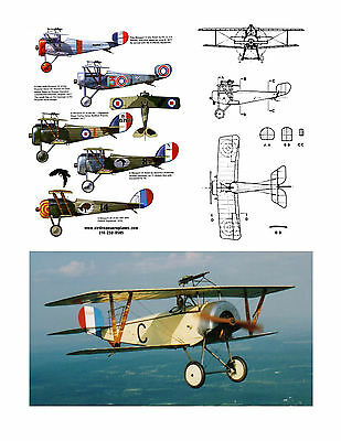 FREEFLIGHT 1/16 SCALE  NIEUPORT 11 Co2 PWR  MODEL AIRPLANE PLANS & NOTES ON CD