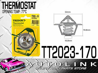 Tridon Thermostat 77°C 54Mm Suit Ford Cleveland Hi Flow (Check Application Belo