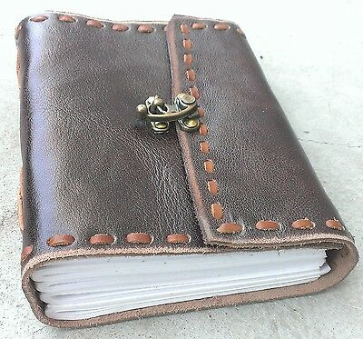 Ultra Soft Genuine Buffalo Leather Journal/Diary I(HANDMAND)- Lock / Photo Album