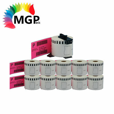 10+1 Compatible for Brother DK-22205 Continuous Pink Roll 62mm x 30.48m QL570