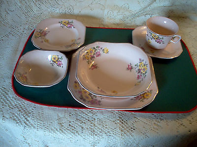 TAYLOR SMITH TAYLOR CHINA LOT PINK WITH FLORAL PATTERN