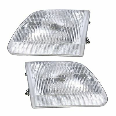 97-03 Ford F150/F250 Pickup Headlights Headlamps Pair Set Left & Right New