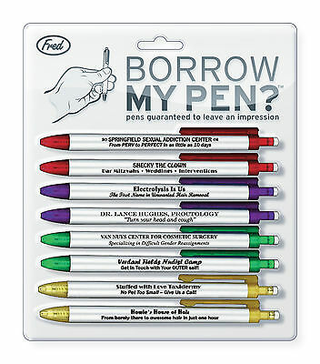 Borrow My Pens memorable pens - Genuine Fred and Friends