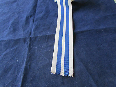 QUEENS POLICE MEDAL RIBBON   - Ribbon 6 inches (150mm) long