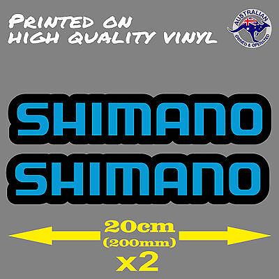 Shimano Logo Decal Sticker 200mm x 45mm BMX Fishing Reel Bicycle Cycling Sticker