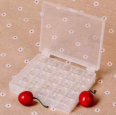 25PCS Sewing Machine Bobbins Spool Plastic Case For Brother Janome Singer Elna