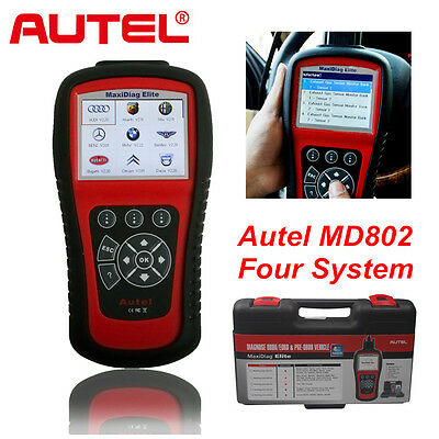 100% Autel MD802 4 System ABS Engine Airbag EPB Oil Reset OBD Diagnostic Tool
