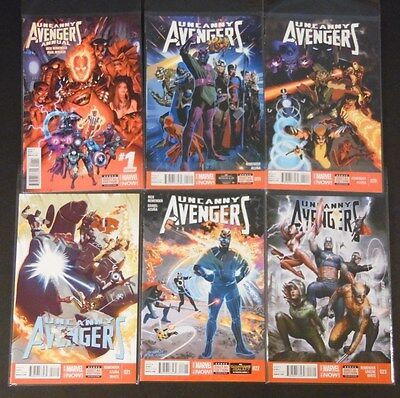 Marvel Comics NOW! Uncanny Avengers 19 20 21 22 23 Annual 1 NM  FREE SHIPPING