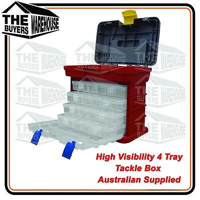 High Visibility Safety 4 Tray Tackle Box Plano Competitor Tool