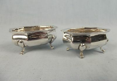 Pair Of Open Silver Salts 1916