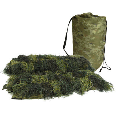 MIL-TEC 140x100cm ANTI-FIRE GHILLIE COVER HUNTING CAMOUFLAGE NETTING WOODLAND