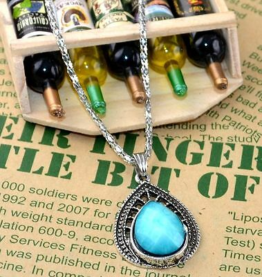 New Classical Natural hot resin cute tibet silver Necklace+Pendant H-1408