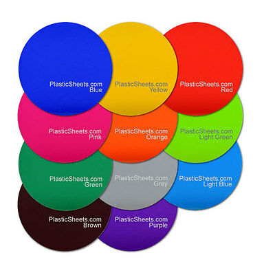 5Mm Coloured Acrylic Discs, Polished Perspex, Cut To Size 100Mm - 900Mm