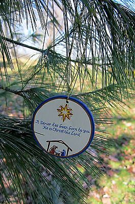 Nativity scene - handpainted wooden ornament #545