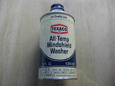 Texaco All-Temp Windshield Washer 12 oz Can, Unopened