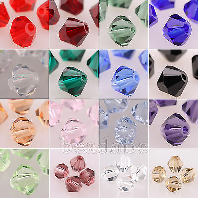 100pcs 5301 Bicone Austria Crystal Beads Charms Jewelry Making 4mm 6mm 8mm Pick
