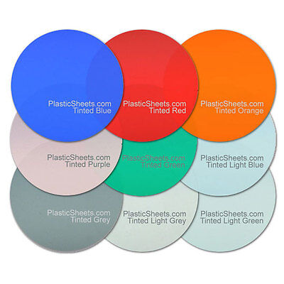 5Mm Tinted Colour Acrylic Discs, Polished Perspex, Cut To Size 100Mm - 900Mm