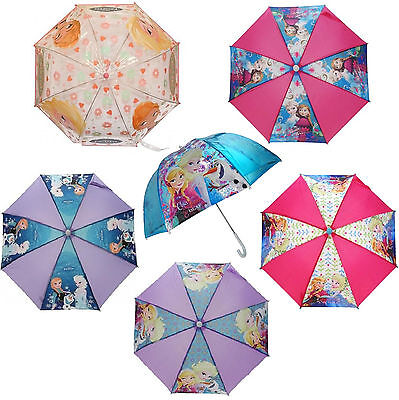 Official Disney Frozen Elsa Anna Olaf School Rain Brolly Umbrella Brand New Gift