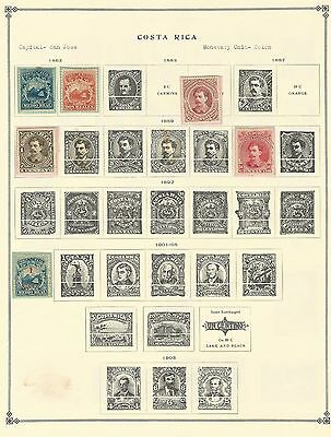 Costa Rica 1863 to 1971 Collection on Scott International Pages