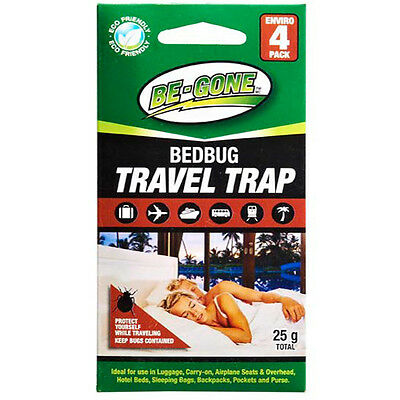 Be-Gone 4pk Travel Size Bed Bug Trap & Monitoring Early Detection Kit