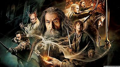 New Large The Hobbit Smaug Lotr Lord Of The Rings Wall Art Print Premium Poster