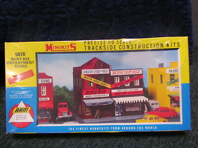 1/87 HO SCALE AHM 5878 MINIKITS BUSY BEE DEPARTMENT STORE MODEL KIT NEW Unsealed