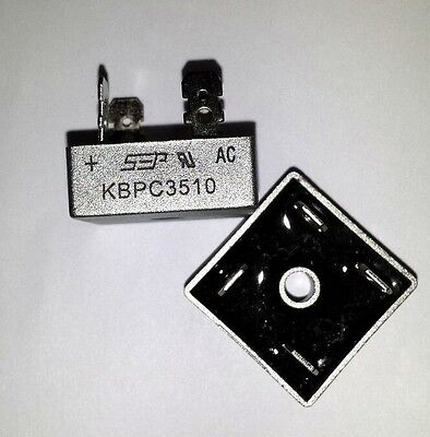 2 PCs Bridge Rectifier 35A 1000V 35 Amp Metal Case KBPC3510 KBPC-3510