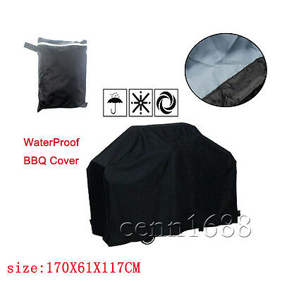 BBQ Cover Barbecue Cover Grill Cover Protector Waterproof 170*61*117 CM