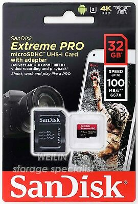 c984d80d7 SANDISK A1 EXTREME PRO 16 Gb-128GB V30 Micro SDHC SDXC UHS-I U3 Card ...