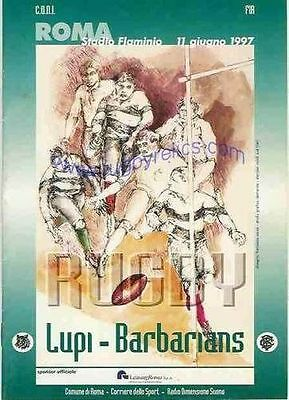 LUPI, ITALY v BARBARIANS 1997 RUGBY PROGRAMME
