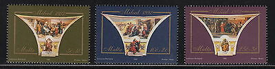 MALTA : 1992 Christmas -Religious paintings set  SG931-3 unmounted mint