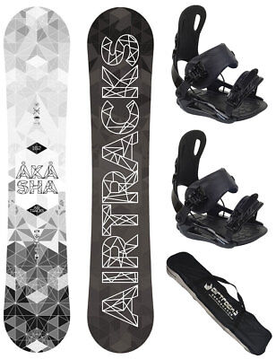 AIRTRACKS Snowboard Set: Venom Rocker+Softbindung Savage+Bag/146 151 156 161 cm/