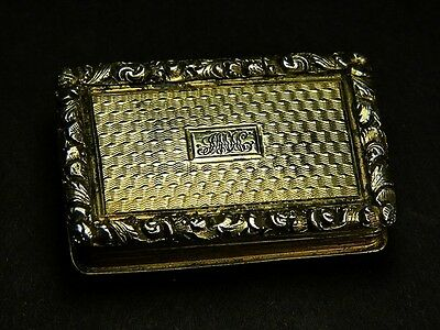 Superb Antique Georgian English Silver Vinaigrette Nathaniel Mills 1832