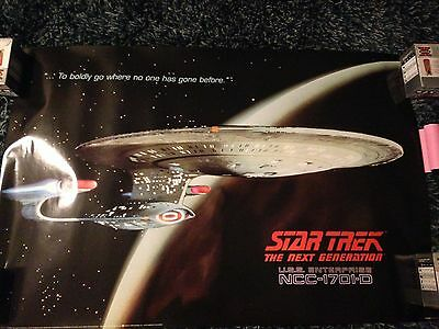1991 Star Trek: The Next Generation U.S.S. Enterprise NCC-1701-D PTE634 Litho