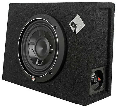 "New Rockford Fosgate P3S-1X8 8"" Subwoofer + Shallow Enclosure Free Ship Nr"