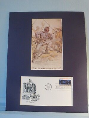 Black Soldiers Rally to Union Cause & Emancipation Proclamation First Day Cover