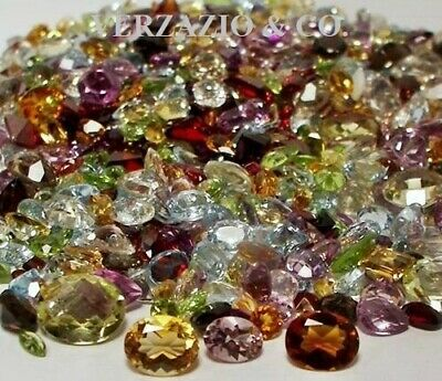 Mix Gemstones Lot Loose Faceted Natural Gemstones Mixed Gems Wholesale Loose Gem