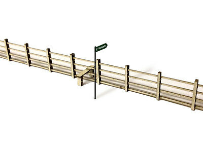 Laser Cut Lineside Fencing & Stiles Oo Scale / 1:76 Model Railway - Lx006-Oo