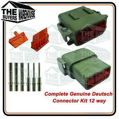 Genuine Deutsch Dt Series 12 Way Complete Kit Connector