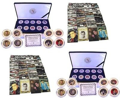 Elvis Presley Collectible Coin Commemorative Set With 100 Assorted Elvis Cards
