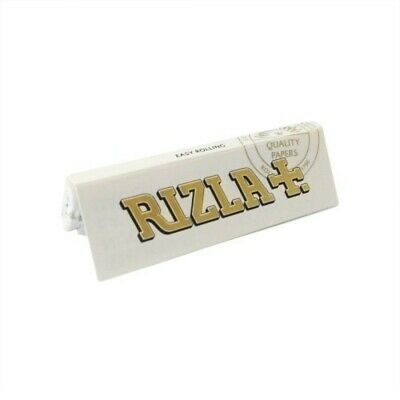 White Rizla Rolling papers regular thickness for good burning (2/5/10/20/50)pcs