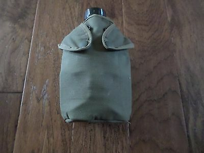 French Airborne Canteen With Cover And Cup 48 Ounce Capacity Oversize Canteen
