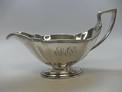 "Sterling Silver Gravy Boat, Mono "" D A S "", Gorham, Date Mark 1919"