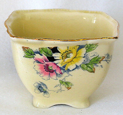 Royal Winton Grimwades Rosa Open Sugar Bowl Pink/Yellow Flowers