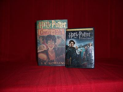 HARRY POTTER AND THE GOBLET OF FIRE BOOK&DVD.