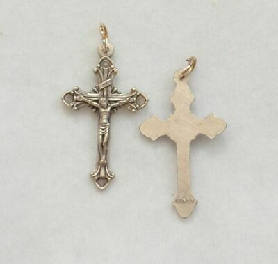Crucifix, 30mm, Silver Tone Metal Pendant, Quality Made in Italy