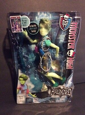 Monster High HAUNTED PORTER GEISS male Boy Doll NRFB NEW Hot Toy