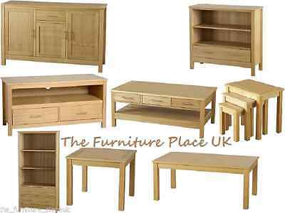 OAKLEIGH FURNITURE RANGE - Bookcase TV Unit Coffee Lamp Table Sideboard Nest
